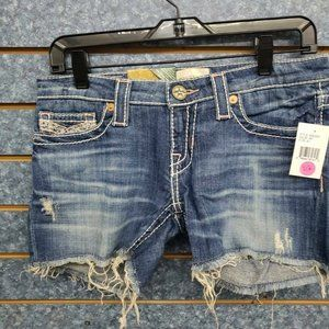 "Big Star Remy Fray 3 1/2"" Fray Hem Denim Shorts"